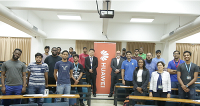 UWI St. Augustine Students and UWI staff and Huawei reps