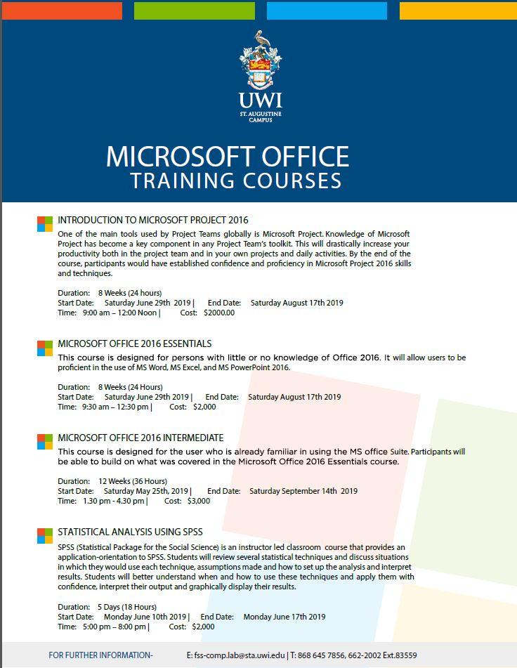 Microsoft Office June 29 Courses