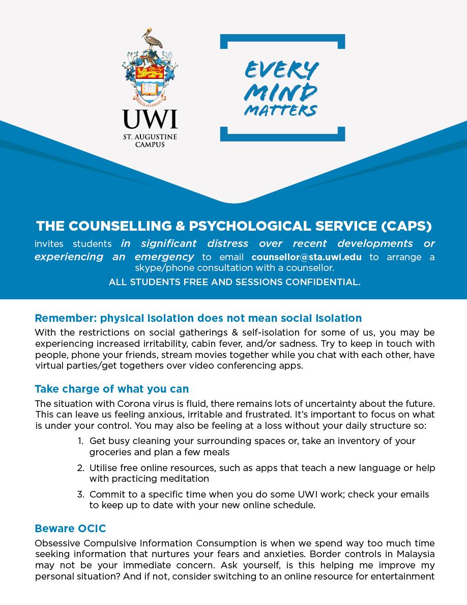 CAPS student Services 2020