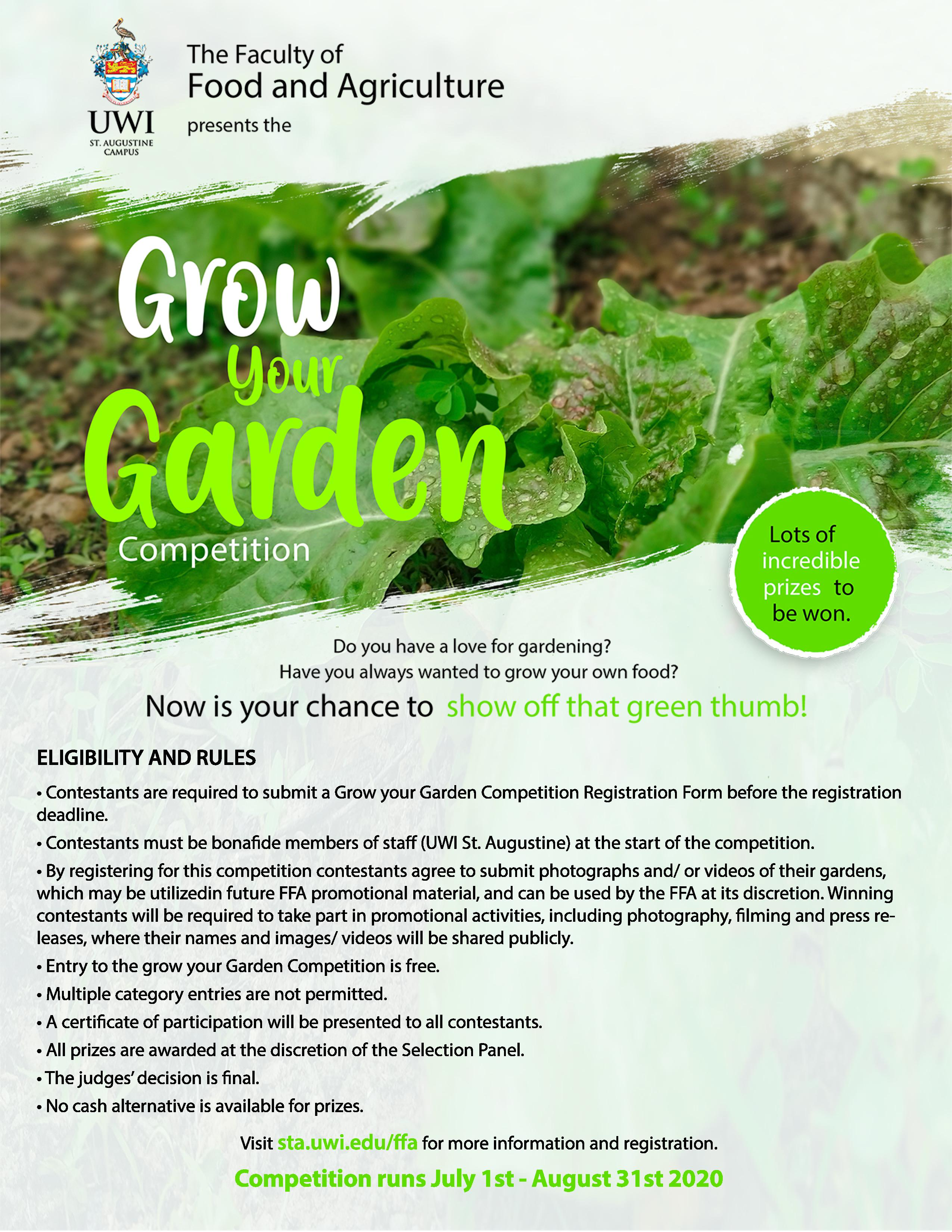 FFA Grow Your Garden Eligibility and Rules 2020