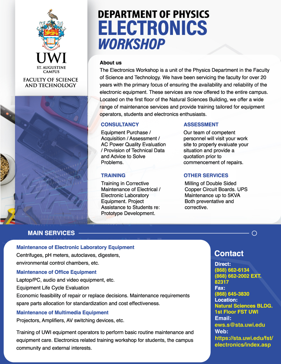 Physics Electronics Workshop Flyer 2020
