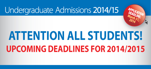 Deadlines for 2014/2015