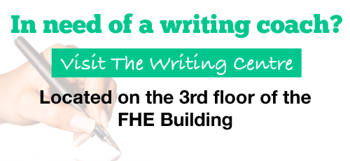 Visit the Writing Centre today!